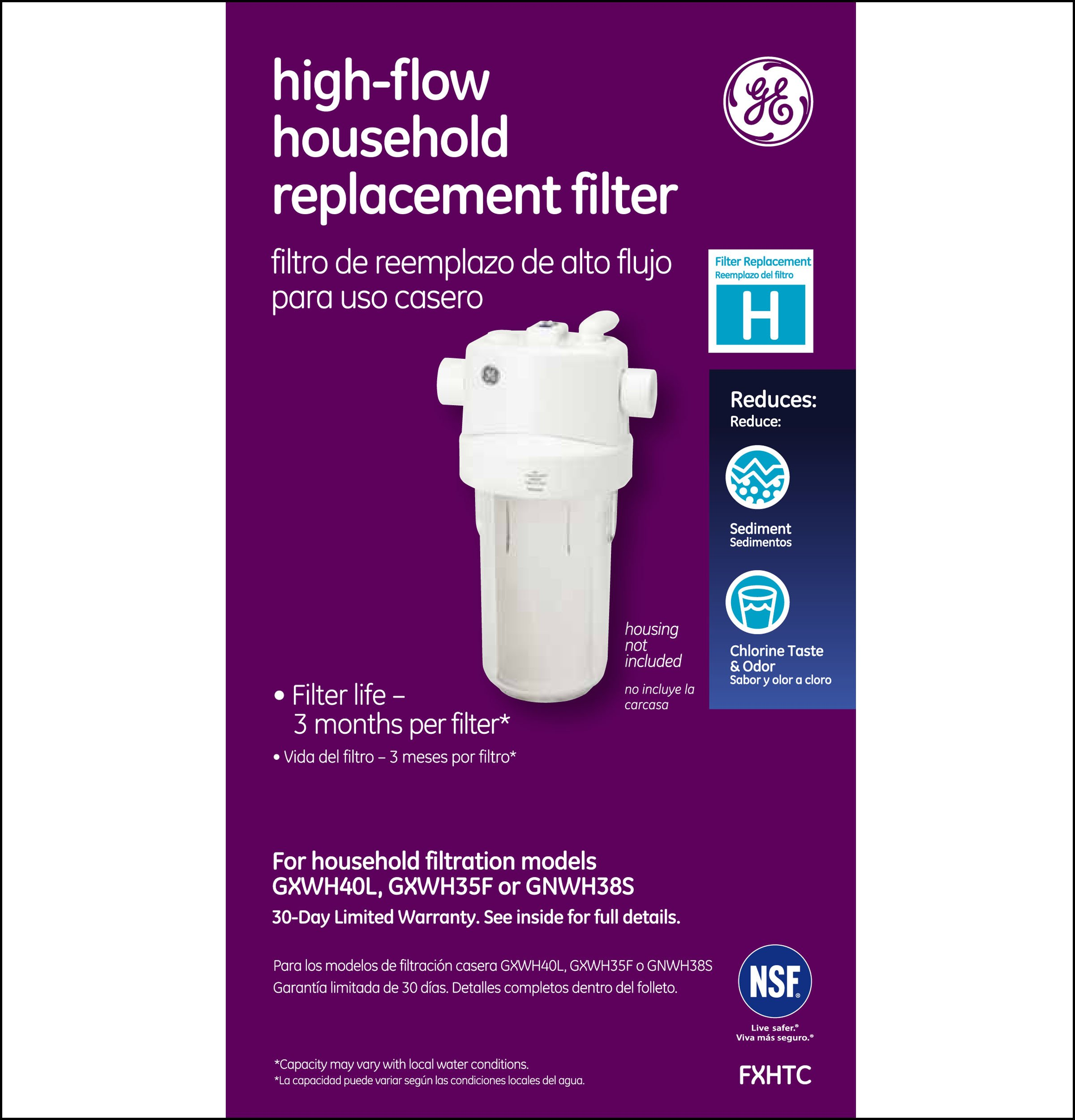 GE FXHTC Whole Home System Replacement Filter by GE