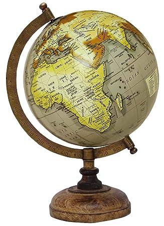 Escritorio globo giratorio Mundial de la Tierra Geografía Globos de vector de la decoración del océano