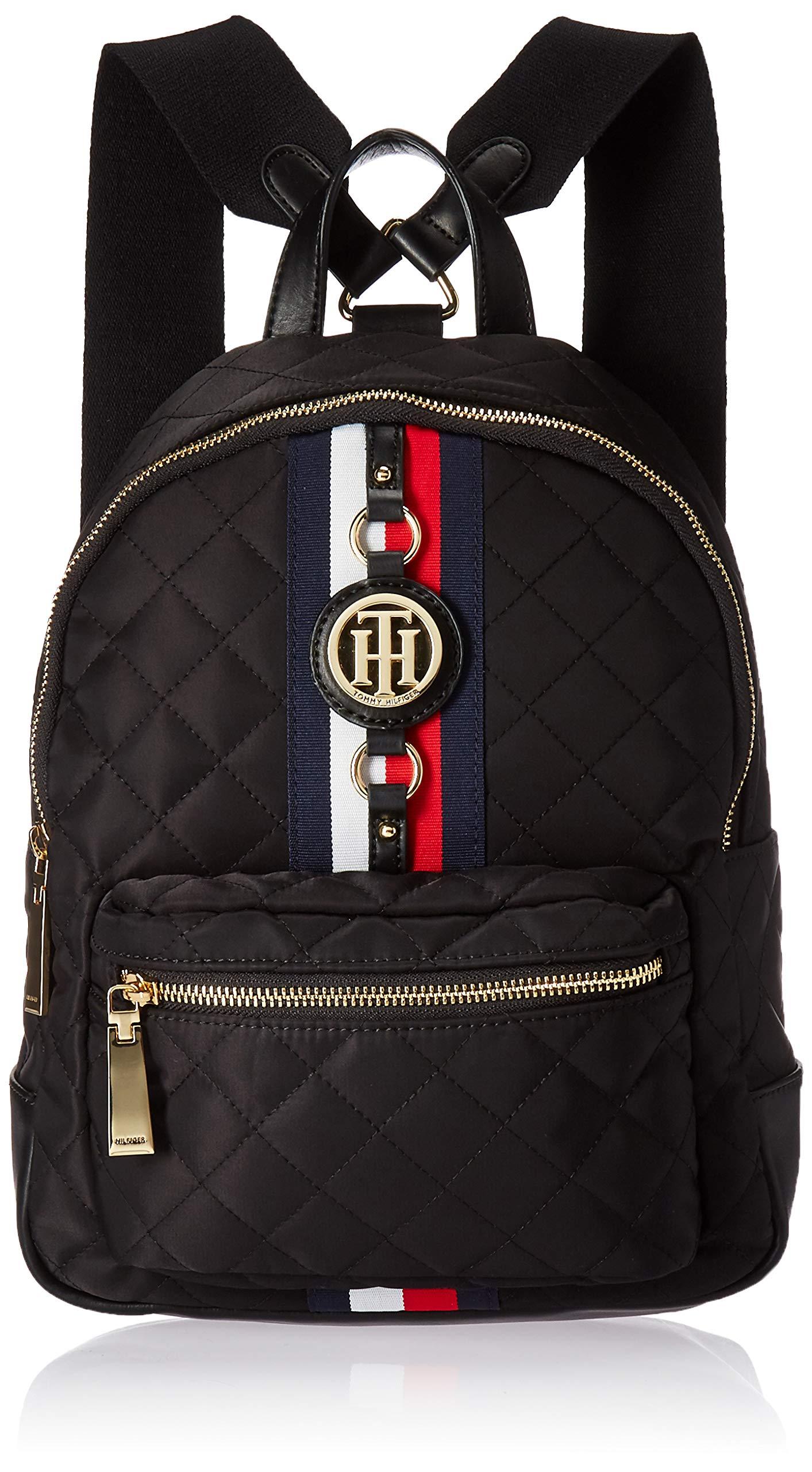 Tommy Hilfiger Backpack Jaden, Black Quilt