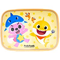 Pinkfong wide stainless steel lunch box set