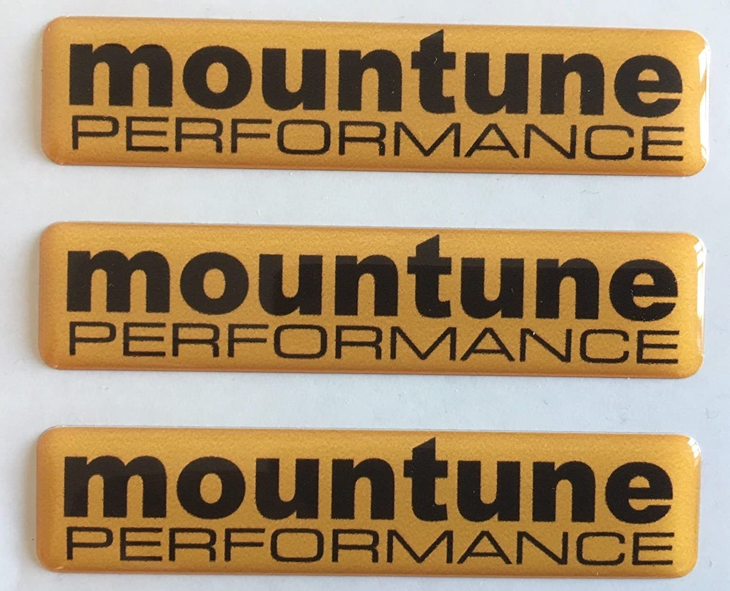 MOUNTUNE PERFORMANCE FOCUS FIESTA RS TUNING BADGE DOMED RESIN X3 WINGS BOOT