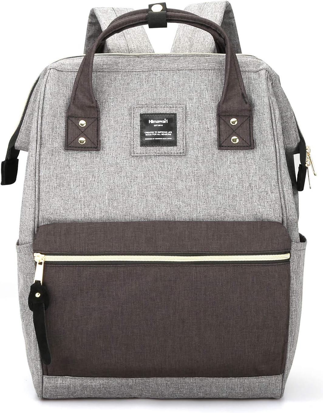Himawari Laptop Backpack Travel Backpack With USB Charging Port Large Diaper Bag Doctor Bag School Backpack for Women&Men (9001-MSHH)
