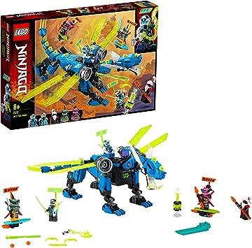 Oferta amazon: LEGO Ninjago - Ciberdragón de Jay, Set de Construcción con Minifiguras de Jay, Nya y Unagami, Juguete Inspirado en Prime Empire (71711)