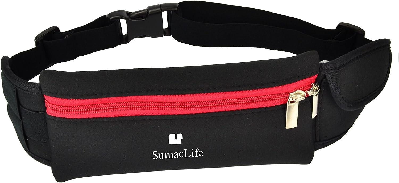 Adjustable Workout Outdoors Sport GYM Running Belt Waist Fanny Pack Pouch Bag Case for LG G4, LG G Stylo, LG Escape2, LG Leon, LG Optimus F60, LG Lancet, LG Transpyre, LG Optimus L3 L5 L7 L9 II