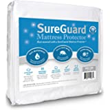 Mini Crib SureGuard Mattress Protector - 100% Waterproof, Hypoallergenic - Premium Fitted Cotton Terry Cover for Portable Pack n Play - 10 Year Warranty