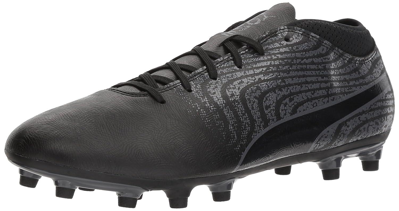 PUMA Men's One 18.4 FG Soccer-Schuhes, schwarz schwarz-Asphalt, 12 M US
