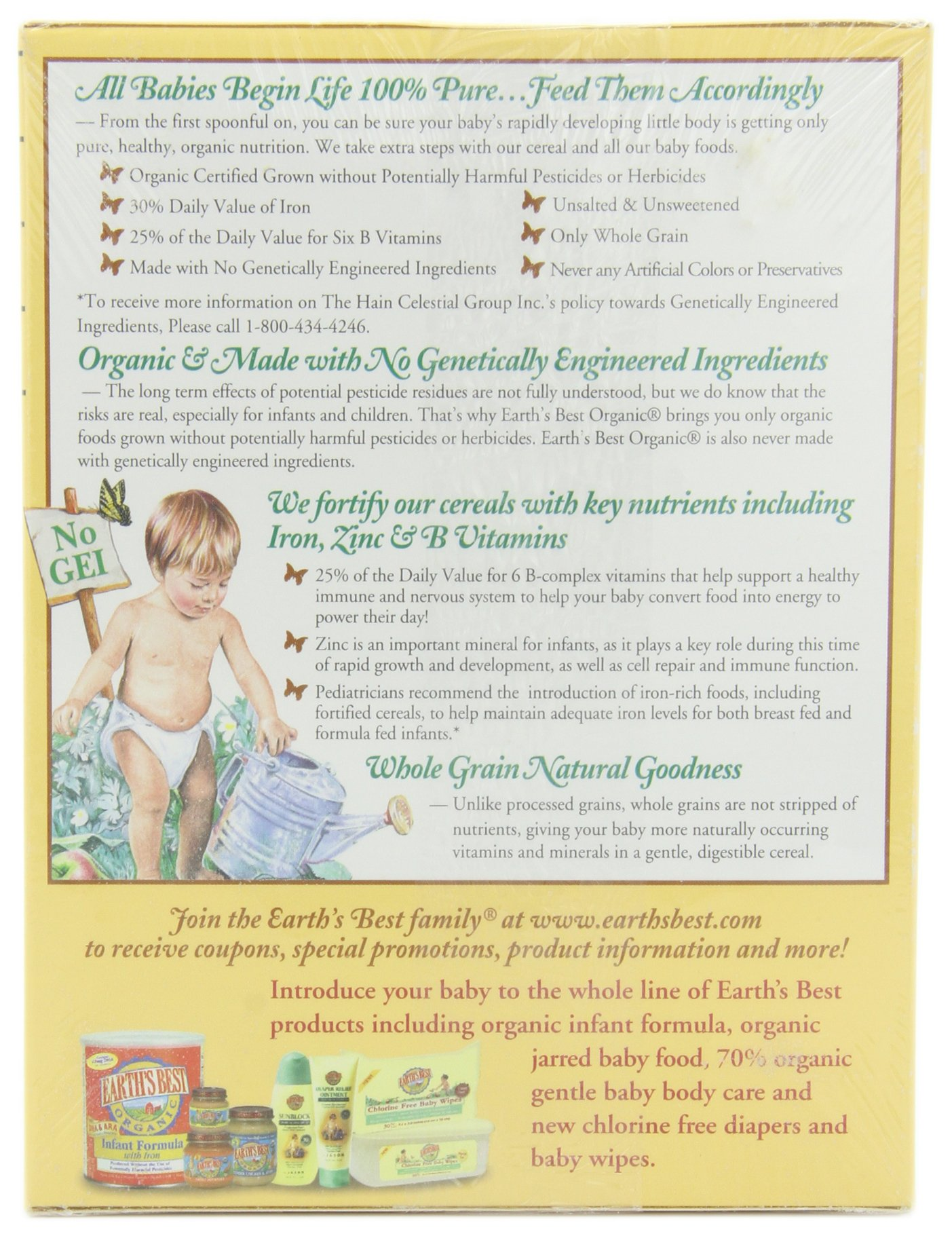 Earth's Best Organic Infant Cereal, Whole Grain Oatmeal with Bananas, 8 Oz - Packaging May Vary by Earth's Best (Image #2)