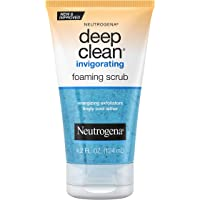 Neutrogena Deep Clean Invigorating Foaming Facial Scrub with Glycerin, Cooling & Exfoliating Gel Face Wash to Remove…