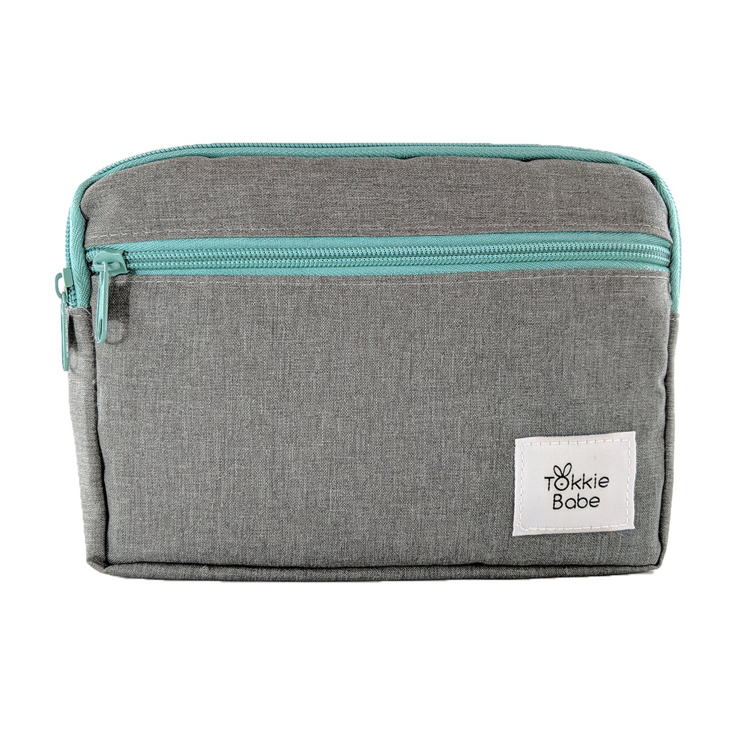 TOKKIE BABE Baby Carrier Extension Storage Pouch - Fit All Essentials for Diapers, Changing Pad, Wipes, Pacifiers, Smart Phones and Wallets Compatible with Ergobaby, Lillebaby, Tula and more TB-1000