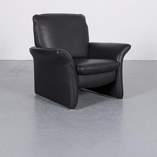 Amazonde Musterring Leder Sessel Schwarz Einsitzer Stuhl Echtleder