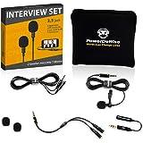 Professional Grade 2 Lavalier Lapel Microphones Set for Dual Interview - Dual Lavalier Microphone - 2 Lavalier…