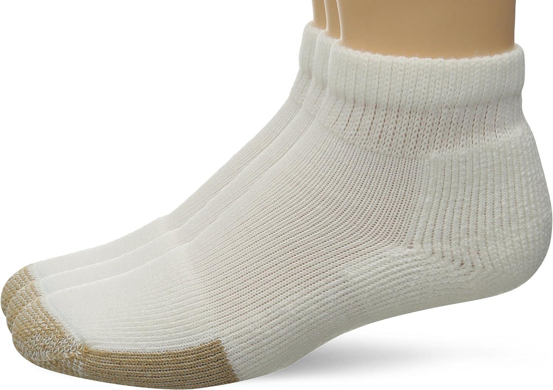 Thorlos Mens /& Womens 1 Pair Tennis Mini Crew Socks with Thick Cushion