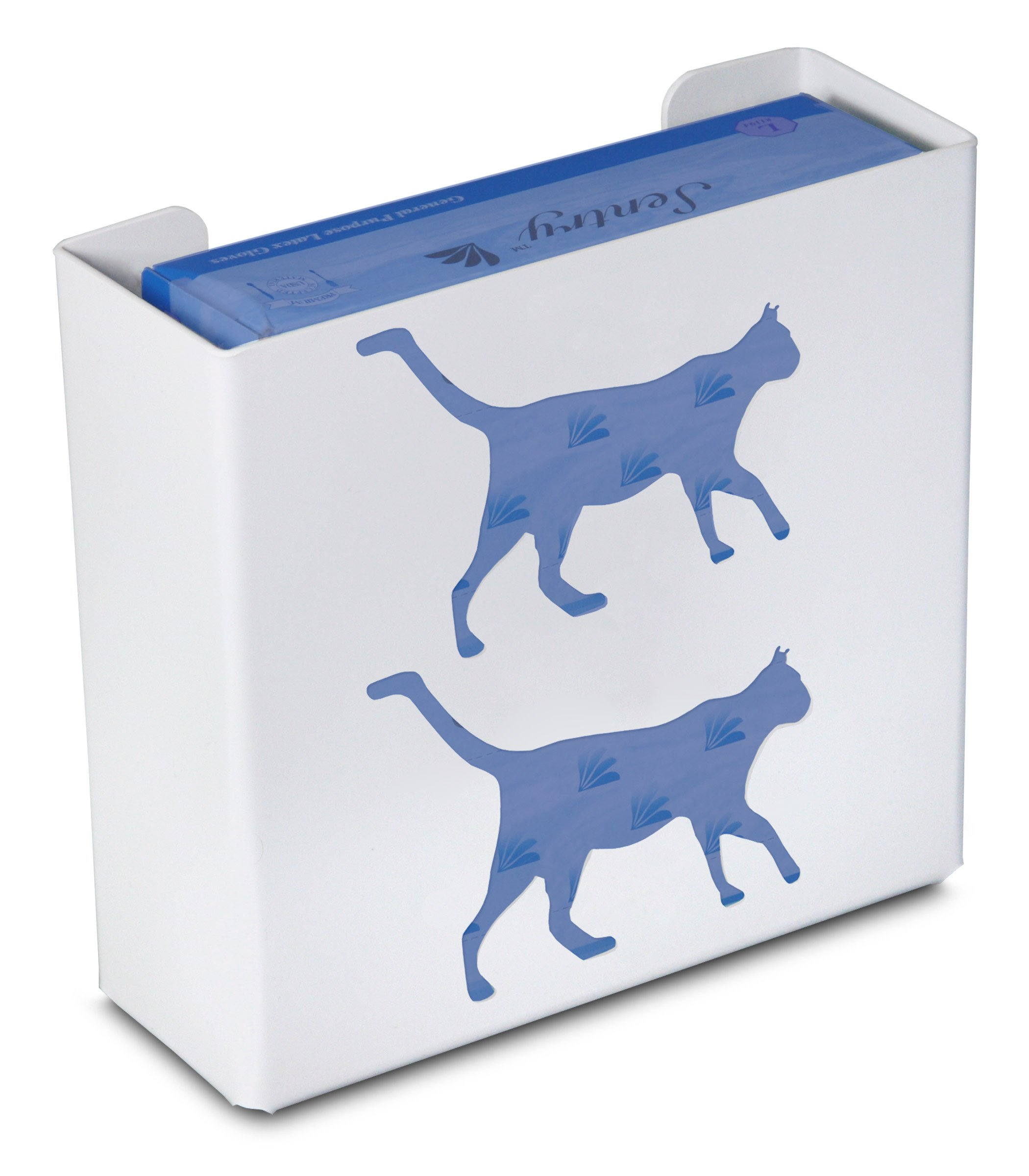 TrippNT 50852 Priced Right Double Glove Box Holder with Cat, 11'' Width x 10'' Height x 4'' Depth