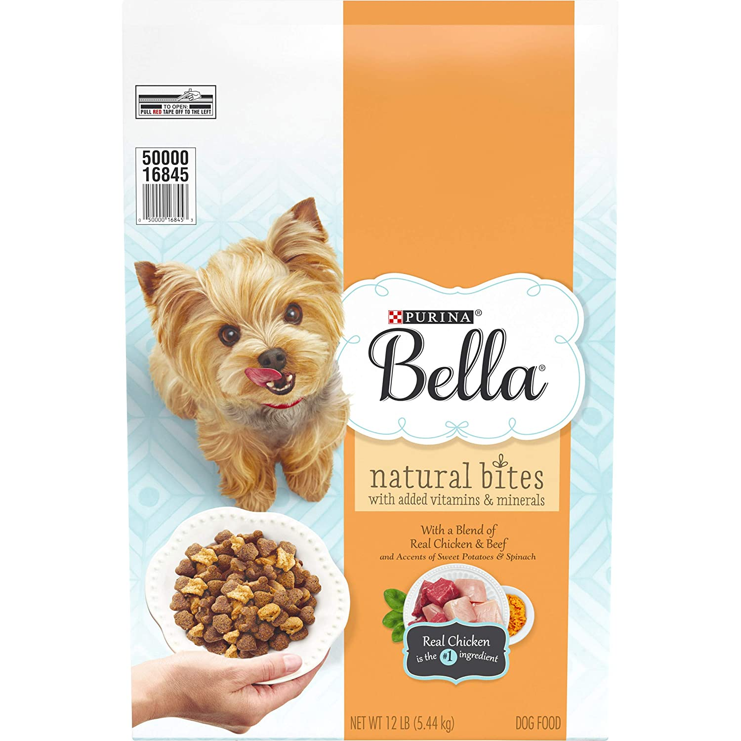3.Purina Bella Natural Bites for Small Dogs Adult Dry Dog Food