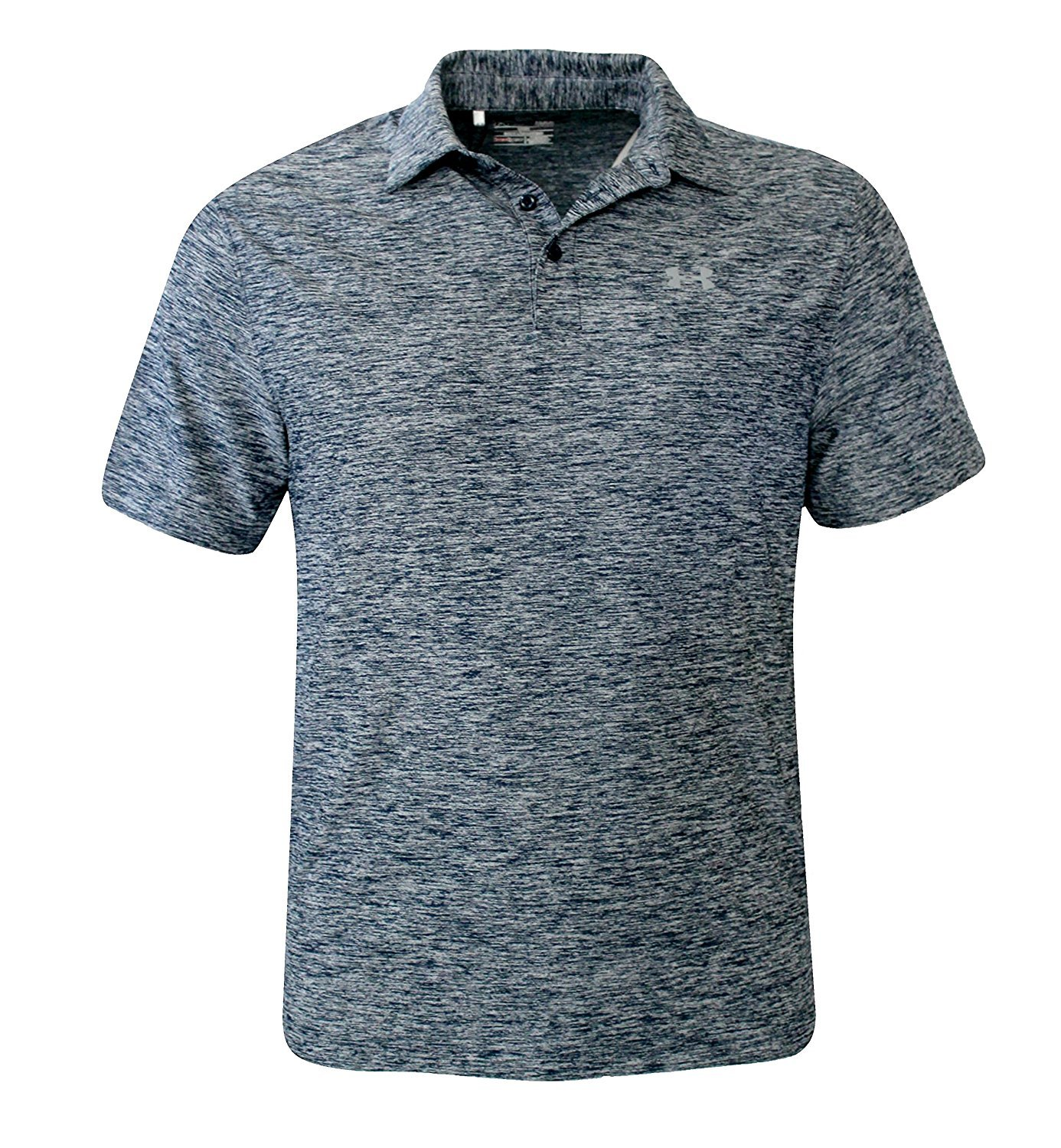 Under Armour Elevated Heather Polo Tee - Mens (S, Academy/Graphite 408)
