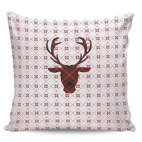 Amazon.com: Square Decorative Throw Cushion Cover Pillowcase ...