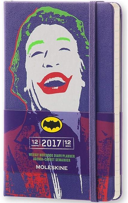 Moleskine DBA12WN2Y17 - Agenda semanal 18 meses, diseño Batman, edición limitada, pocket 9 x 14, color morado