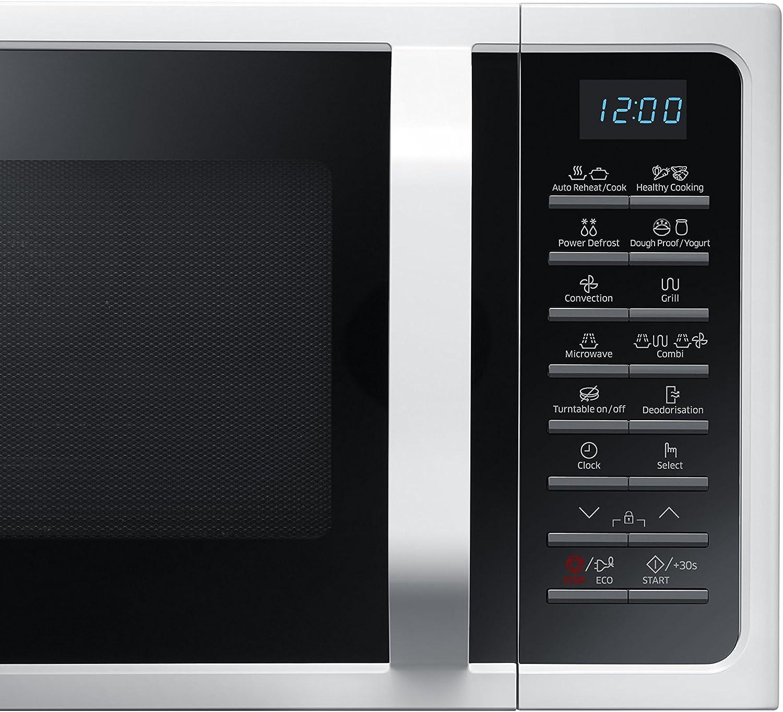 Samsung MC28H5015AW - Microondas (230V, 50 Hz, 51,7 cm, 47,56 cm ...