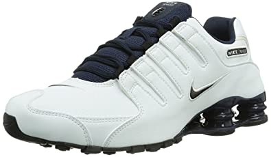 best service 870b6 f09be Nike Shox Nz Eu, Chaussures de running homme, Multicolore (White Black Obsdn
