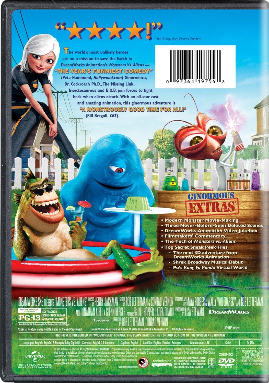 Amazon Com Monsters Vs Aliens Seth Rogen Reese Witherspoon Hugh Laurie Will Arnett Paul Rudd Rainn Wilson Stephen Colbert Kiefer Sutherland Movies Tv