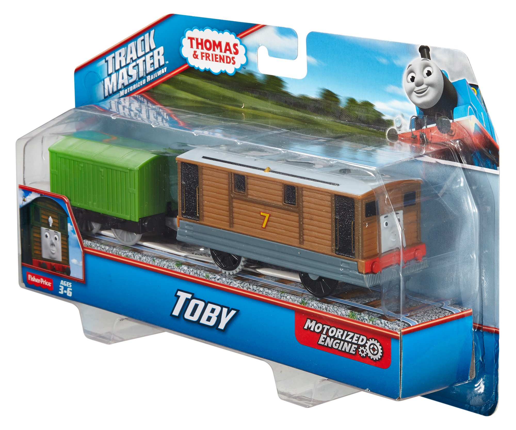 Thomas & Friends Fisher-Price TrackMaster, Motorized Toby Engine