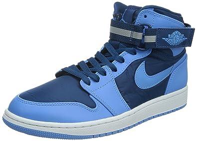 Nike Jordan Men's Air Jordan 1 High Strap French BlueUnvrsty BlueWhite Basketball
