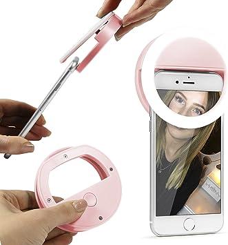 Urcover Anillo de Luz Selfie LED Clip, [Aro de Luz] Smartphone ...