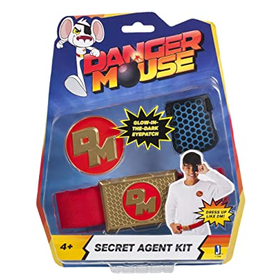 Danger Mouse Secret Agent Kit - Role Play Eyepatch/Belt and Badge: Toys & Games