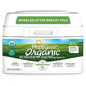 Happy Family Baby Organic Infant Formula Milk-Based Powder with Iron