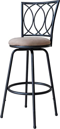 Roundhill-Furniture-Redico-Adjustable-Metal-Barstool,-Powder-Coated-Black