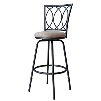 roundhill furniture redico adjustable metal barstool powder coated black