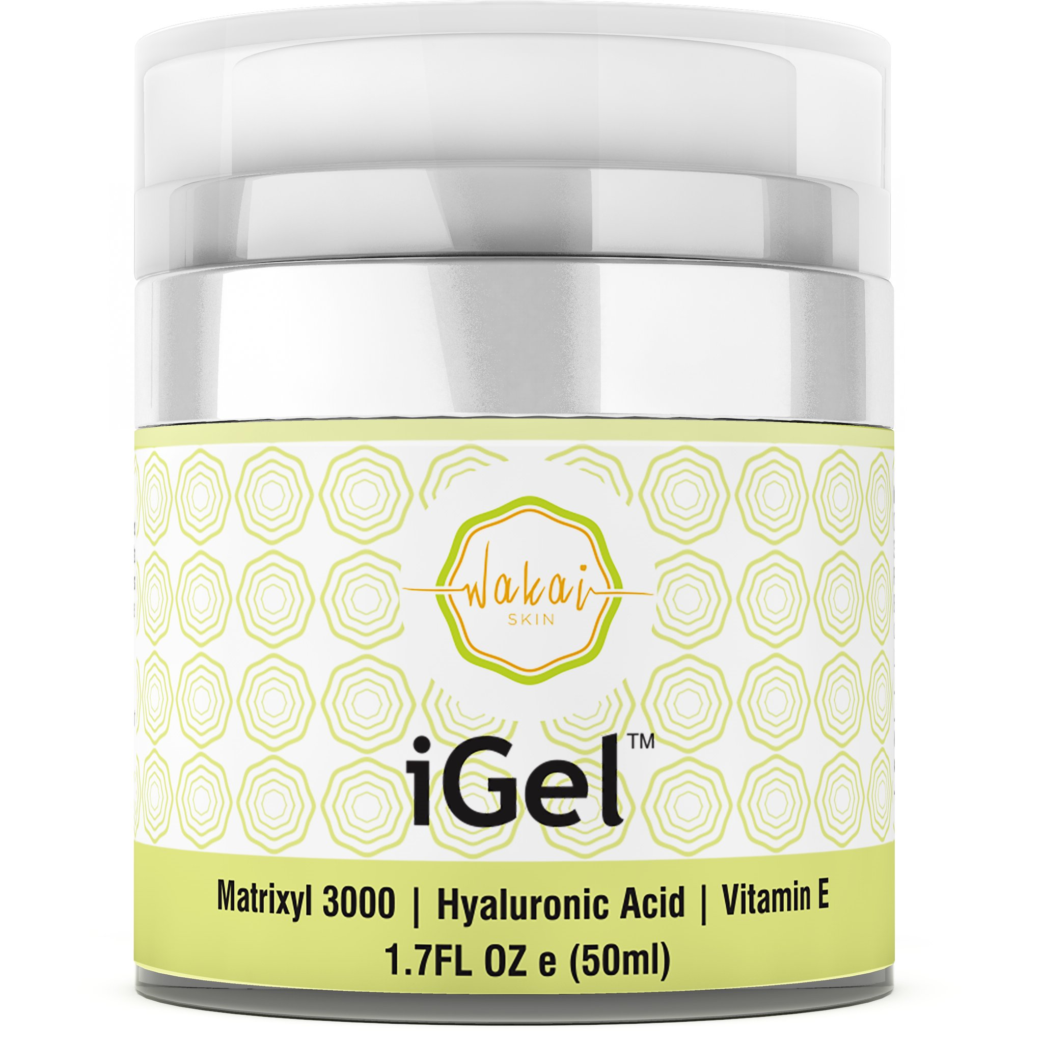 Wakai iGel Anti Aging Eye Cream - Lifting & Firming Under Eye Cream Combats Puffiness, Dark Circles & Wrinkles, With Organic Ingredients & Vitamins - Fast Absorbing & Light Formula