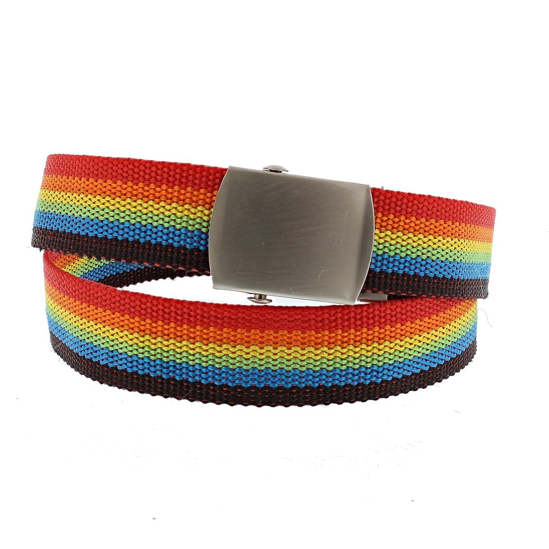 Zac's Alter Ego® Rainbow Striped Canvas Slider Belt Zac' s Alter Ego