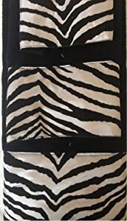 3 Piece Bath Towel Set  Black White Zebra Print Wash Had And Bath Towel