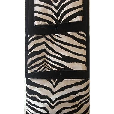3 Piece Bath Towel Set- Black White Zebra Print Wash Had and Bath Towel