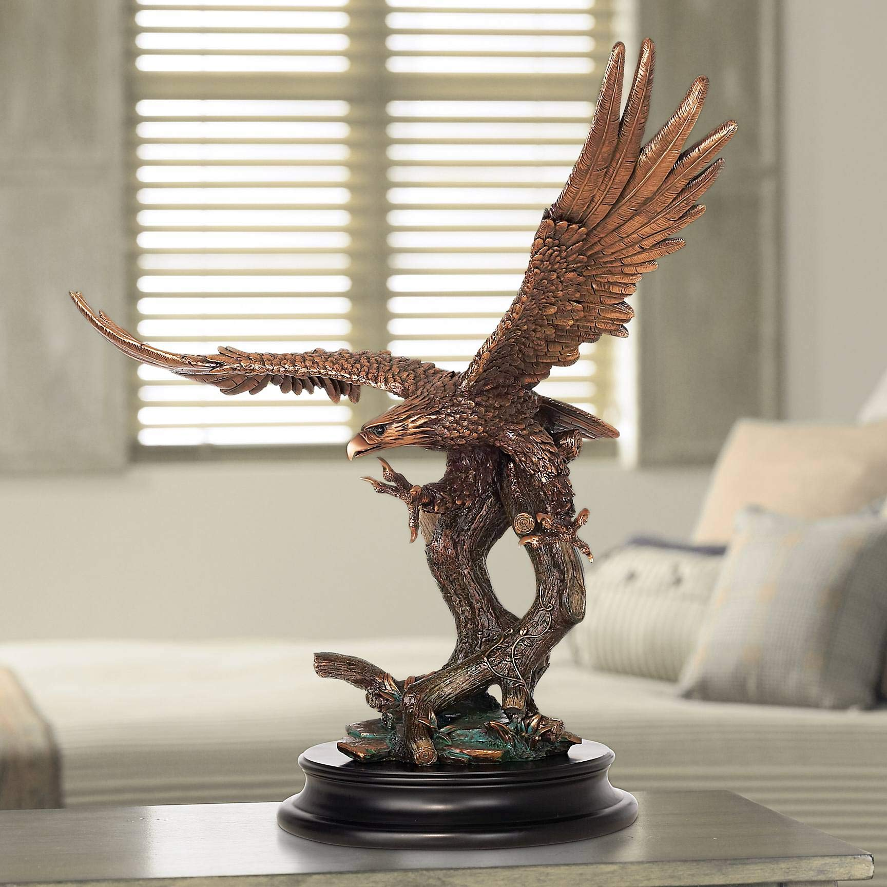 Kensington Hill Eagle Taking Flight 24 1/2'' High Large Bronze Sculpture