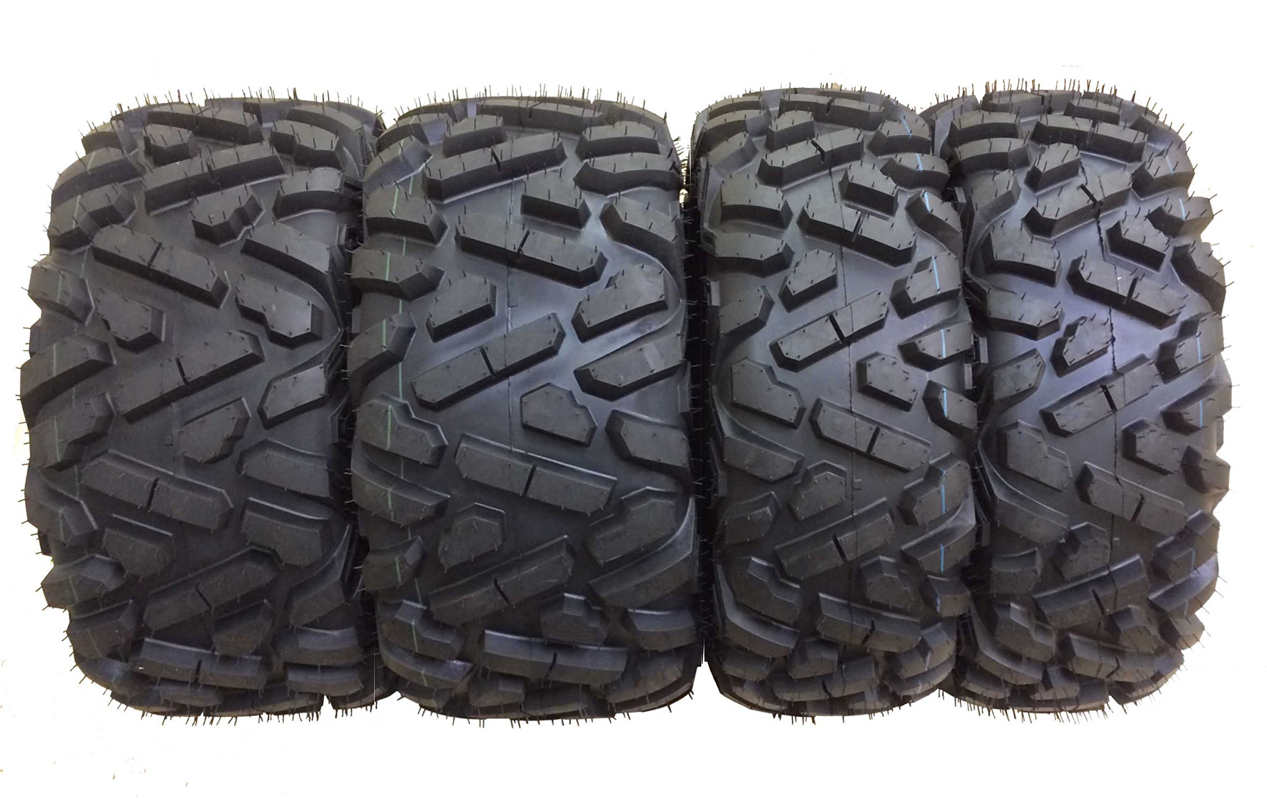 Set of 4 New WANDA ATV/UTV Tires 27x9-14 Front & 27x11-14 Rear /6PR P350 - 10171/10174 by Wanda (Image #1)