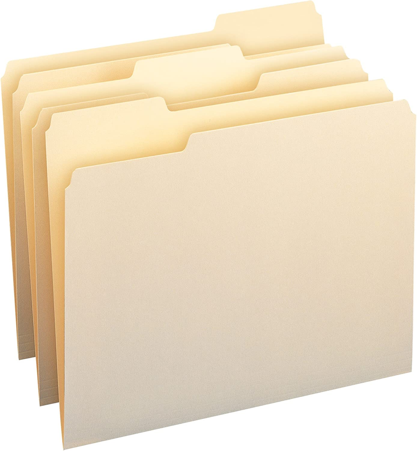 Smead File Folder, 1/3-Cut Tab, Assorted Position, Letter Size, Manila, 24 Per Pack (11928)
