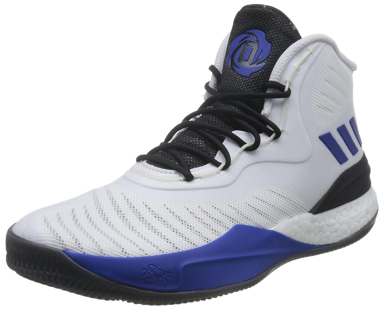 Adidas D Basketball Rose 8, Chaussures de Basketball D Homme 48 EU Multicolore (Ftwr White/Scarlet/Core Black) d1e92c