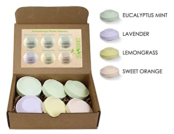 7f51be18e9b Amazon.com   Shower steamer by Sky Organics (pack of 6) with Organic Essential  Oils- Spa Shower Melts- Bath Bombs for the shower- Spa experience steam ...