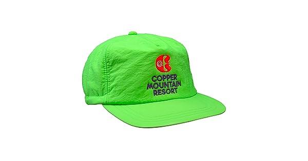 5d617ecc5f9 comYupoong Vintage Ski Resort Hat - Copper Mountain Scrunch Back Neon Green