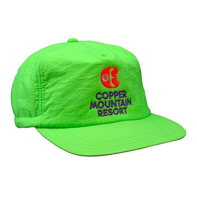 b101671042e Image Unavailable. Image not available for. Color  Vintage Ski Resort Hat - Copper  Mountain Scrunch Back Neon Green