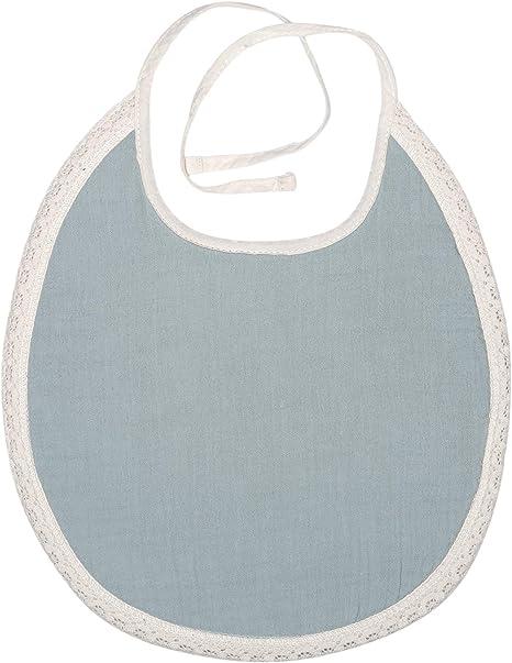 Kindsgut Babero de muselina Paris, algodón suave, azul: Amazon.es: Bebé