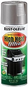 Rust-Oleum 270201 Specialty Silver High Heat Ultra Spray Paint, 12-Ounce