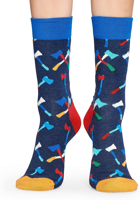 Blue Axe Happy Socks Sock Calcetines casual Talla /única para Mujer