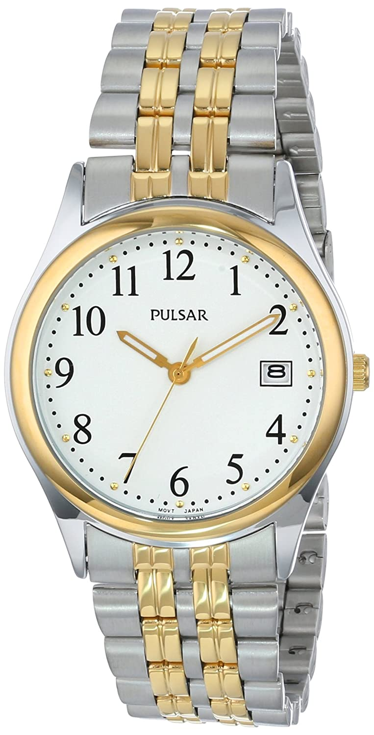 Amazon.com: Pulsar Mens PXH448 Dress Two-Tone Stainless Steel Watch: SEIKO: Watches