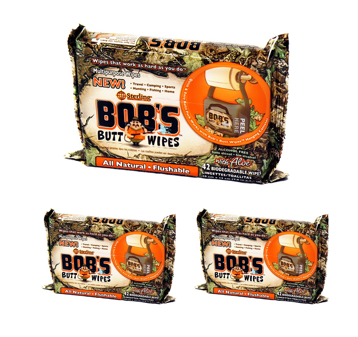 Amazon.com: Bobs Butt Wipes 42ct Refill Only, 3 Pack: Health & Personal Care