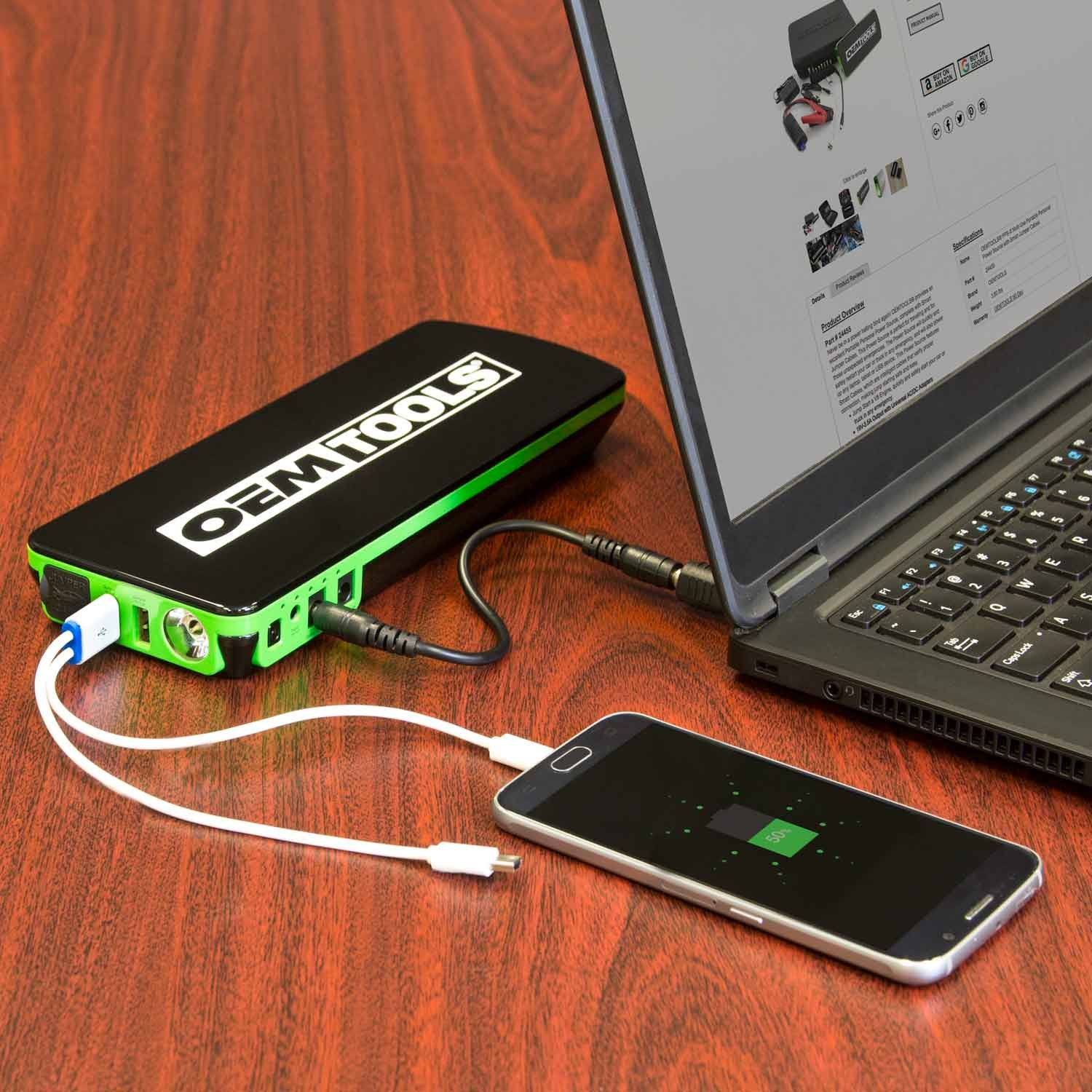 OEMTOOLS 24455 PPS-X Personal Power Source with Smart Jump Cables by OEMTOOLS (Image #6)