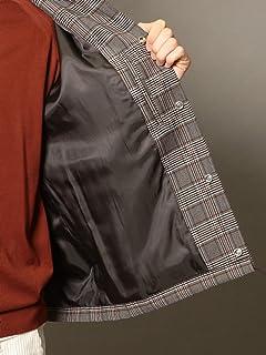 Glen Plaid Coaches Jacket 1225-199-8515: Brown