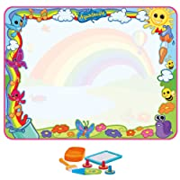 Aquadoodle E72772 Super Rainbow Deluxe - Large Mess-Free Water Drawing Mat Fun Suitable for 18 Months+